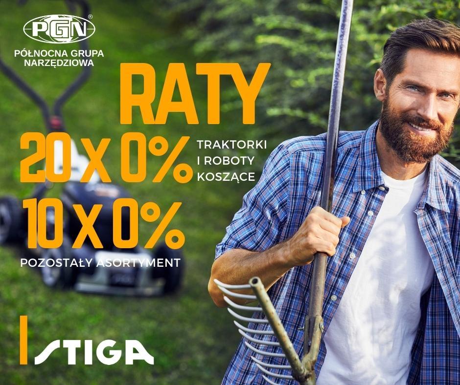 Raty 0% naprodukty STIGA