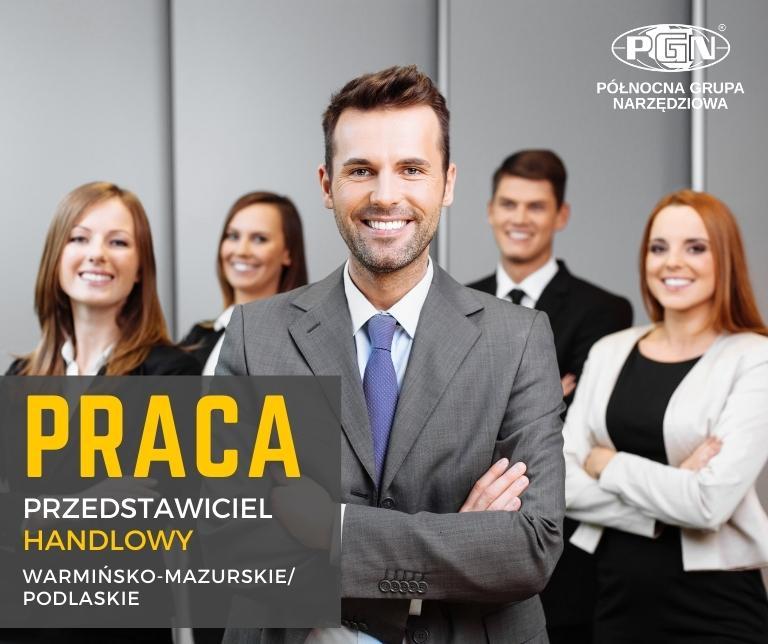 Oferta pracy  – przedstawiciel handlowy Warmińsko-Mazurskie / Podlaskie